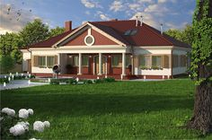 projekt Łapanów DM-6484 KRF2225 Dm, Home Fashion, Outdoor Structures, Cabin, House Styles, Home Decor, Projects, Decoration Home, Room Decor