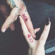 Matching Couple Tattoos Ideas--His & Hers King And Queen Tattoo, couple tattoo ideas, couple tattoos, matching couple tattoos, 16 Tattoo, Ring Tattoos, Love Tattoos, Body Art Tattoos, New Tattoos, Small Tattoos, Tattoos For Guys, Band Tattoo, Tattoos For Married Couples