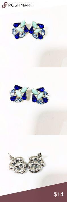 Gorgeous Blue Crystal Earrings Beautiful blue, teal and crystal earrings Jewelry Earrings