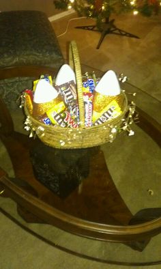 Halloween candy basket.... Yummy