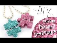 Kawaii Puzzle Friendship Charms polymer clay tutorial