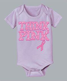 Lavender 'Think Pink' Bodysuit - Infant by Airwaves #zulily #zulilyfinds