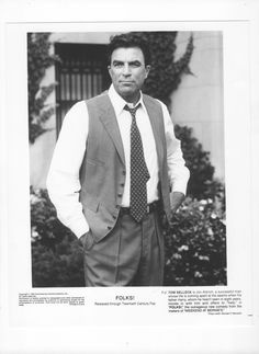 Vintage Tom Selleck 8x10 Movie Still From Folks! - 1992 - Don Ameche