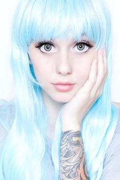Light blue wig