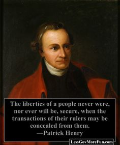 Here a true patriot - Patrick Henry