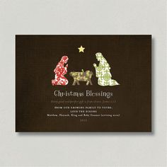 DIY Design  Printable Christmas Nativity Card by hhdixon on Etsy, $15.00