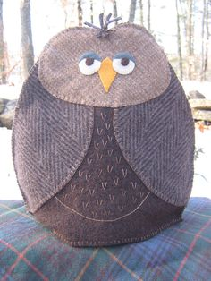 Carson the Owl  PDF tea cozy pattern designed for by SuzanneBruno, $7.00