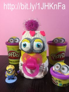 Create your own baby girl MINION with Play-Doh. Be creative with your children, it is so much fun. http;//bit.ly/1JHKnFA