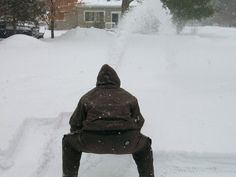 Human snow blower