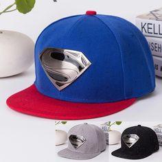 5fcc64b98146e Unisex fashion Superman metal baseball cap (Box Packaging) hip-hop hat  gorras camouflage