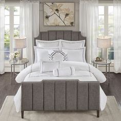 Madison Park Signature Hotel 101 Grey 400 Thread Count Queen Size Comforter Set (As Is Item) (Queen) Queen Size Comforter Sets, Bedding Sets, Signature Hotel, Ruffle Bedding, Space Furniture, Mattress Brands, Luxury Bedding, Duvet Cover Sets, Houses