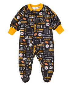Another great find on #zulily! Pittsburgh Steelers Allover Footie - Infant & Toddler #zulilyfinds