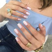 Maybe you have discovered your nails lack of some modern nail art? Yes, lately, many girls personalize their nails with lovely … French Nails, French Manicure Nails, Heart Nail Designs, Fall Nail Designs, Prom Nails, Wedding Nails, White Tip Nails, Popular Nail Art, Nagellack Trends
