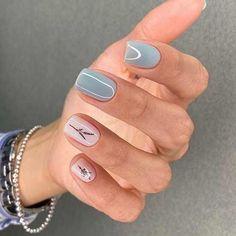 Cute Short Nails, Short Nails Art, Nails Ideias, Cute Nail Art Designs, Short Nail Designs, Minimalist Nails, Neutral Nails, Neutral Colors, Nail Colors