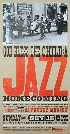 JAZZ Print Alphonse Mouzon Letterpress Poster