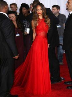 Charming Sexy Red Floor-Length Celebrity Prom Dress/Evening Dress [B0053] - $182.99 : 24inshop