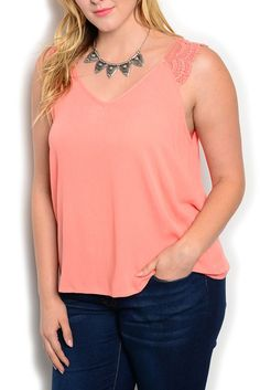 DHStyles Women's Salmon Plus Size Trendy Sheer Crocheted Sleeveless Knit Top - 1X Plus #sexytops #clubclothes #sexydresses #fashionablesexydress #sexyshirts #sexyclothes #cocktaildresses #clubwear #cheapsexydresses #clubdresses #cheaptops #partytops #partydress #haltertops #cocktaildresses #partydresses #minidress #nightclubclothes #hotfashion #juniorsclothing #cocktaildress #glamclothing #sexytop #womensclothes #clubbingclothes #juniorsclothes #juniorclothes #trendyclothing #minidresses…