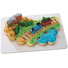 The Thomas the Train Cake Deco Set is a splendid way to add some fun and creativity to your next Thomas party theme.