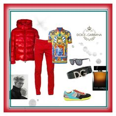 """""""Dolce & Gabbana"""" by selmazbanic ❤ liked on Polyvore featuring Moncler, Dolce&Gabbana, men's fashion and menswear"""