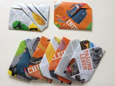 Origami-Briefumschlag Faltanleitung - kefro Origami papier-mit-farbe Origamipapier