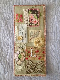 Constanza Silva - Down the Garden Path Large Fabric Collage by PeregrineBlue