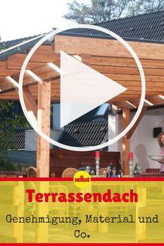 Ein Sommerabend auf der Terrasse ersetzt beinahe einen kleinen Urlaub. Damit Sie nicht jäh durch einen Sommergewitter ins Haus gejagt werden, lohnt sich der Bau einer Terrassenüberdachung! #garten #terrasse #video #videotutorial #selbst
