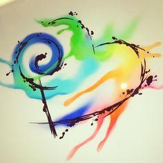Working on a watercolor heart tattoo design for a client. #tattoo #hearttattoo #heart #tattoodesign #watercolor #ipadpro #colorful @bodyartsouljc