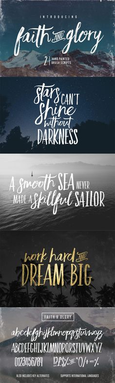 Faith & Glory hand painted brush fonts from The Typographer's Dream Bundle