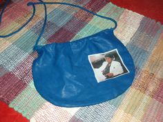 Vintage Michael Jackson Thriller purse blue vinyl small. I had a red one!
