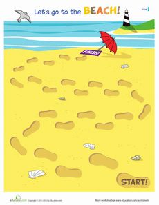 Let's Go to the Beach! Worksheet