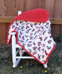 Cowboy baby boy blanket cowboy crochet blanket by 4my4creations