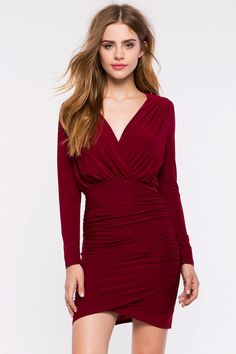 #SALE Bodycon Dresses | Claudia Surplice Tulip Dress | Shop the #SALE at #A'GACI