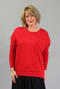 Bluza larga rosie B035R-M -  Ama Fashion