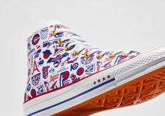Converse Basketball, Converse All Star, Blue And White Style, Jordan 1 Retro High, Aba, Vans Sk8, Blue Fashion, Leather Sneakers