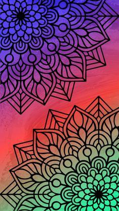 Pop Art Wallpaper, Colorful Wallpaper, Wallpaper Backgrounds, Iphone Wallpaper, Dibujos Zentangle Art, Hipster Drawings, Mobile Art, Mandala Drawing, Amazing Drawings