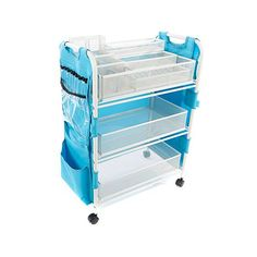 Shop Totally-Tiffany Craft Cart with Attached 19-Pocket Apron 8454064, read customer reviews and more at HSN.com.