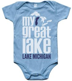 SOOoooO Cute! My Great Lake gear for even the youngest adventurers you know. Follow My Great Lake on Pinterest to find more quality apparel. $20