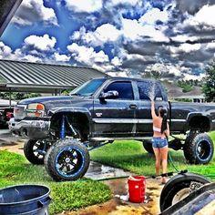 www.DieselTruckGallery.com Cencal Duramax Bikini Truck Wash