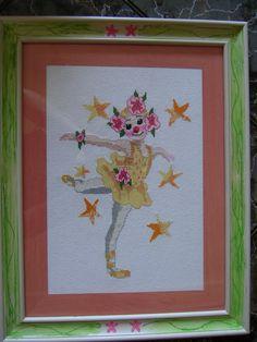 Cross stich ballerina for my favourite niece Erika