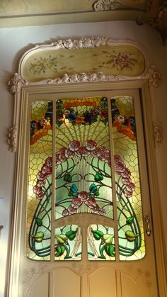 Porta de l'interior de la Casa Manuel Felip, Barcelona - Ausias March 20
