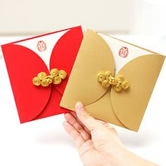 Wedding Supplies Invitation Chinese Style Gold Plate Buttons Card 23241 US