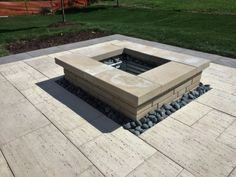 Techo block fire pit and patio