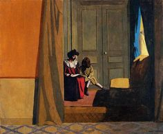 Woman Reading to a Little Girl - Felix Vallotton