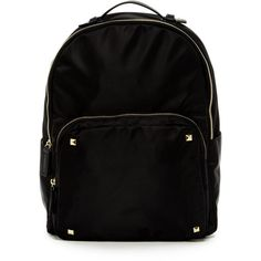 Steven By Steve Madden Wright Nylon Backpack (47 AUD) ❤ liked on Polyvore featuring bags, backpacks, black, backpack bags, strap backpack, shoulder strap backpack, pocket bag and shoulder strap bags