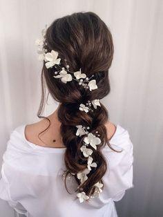 Wedding Hairstyles For Long Hair, Wedding Hair And Makeup, Hairstyles For Weddings, Hairstyles For Dresses, Long Hair Wedding Styles, Bridesmaids Hairstyles, Princess Hairstyles, Bridal Party Hairstyles, Bohemian Wedding Hairstyles