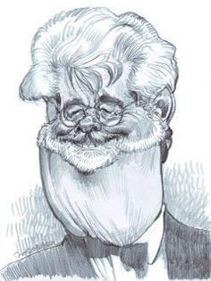 Artist:Jan Op De Beeck   Caricature:George Lucas