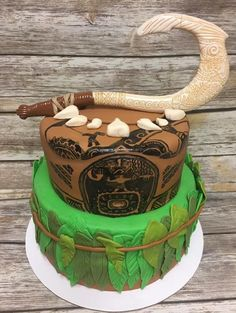 Maui's fish hook cake! You're welcome! #disneycake #moana