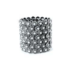 I love the Mocha Wide Gem Stretch Bracelet from LittleBlackBag