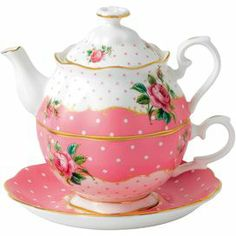 Royal Albert New Country Roses Cheeky Pink Tea for One