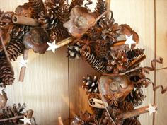 Pinecone wreath with a twist   NHWoodscreations - Housewares on ArtFire